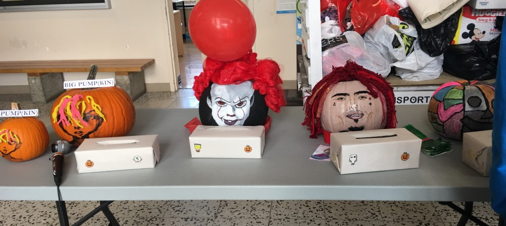 Classes competed with each other to create the scariest and best-looking pumpkin.