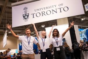 University of Toronto representatives at the Ontario University Fair