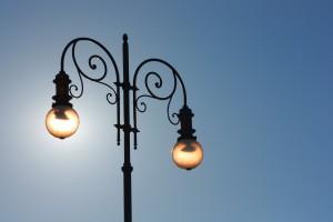 light-sky-lamppost-silhouette-wallpaper
